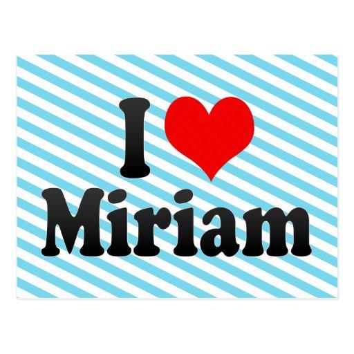 Amo a Miriam Postal
