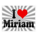 Amo a Miriam Tarjetas Postales