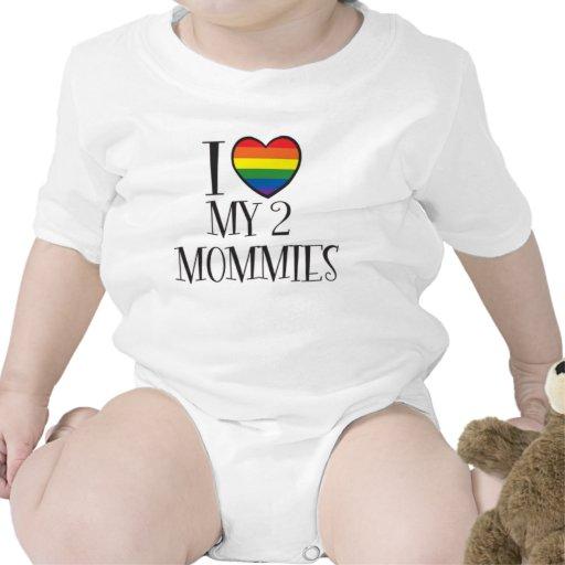 Amo a mis 2 MAMÁS Trajes De Bebé