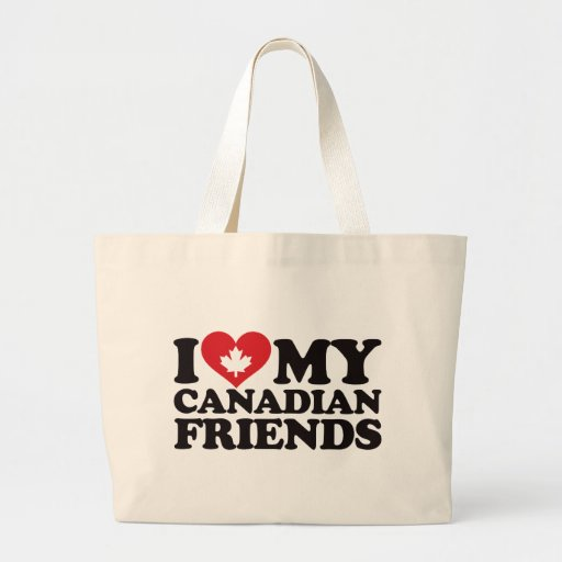Amo a mis amigos canadienses bolsas lienzo