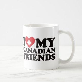 Amo a mis amigos canadienses taza