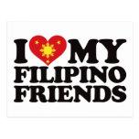 Amo a mis amigos filipinos postal