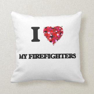Amo a mis bomberos cojin