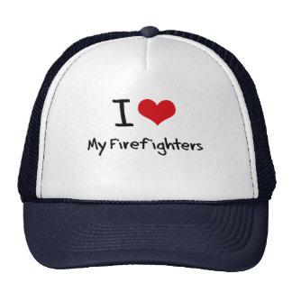 Amo a mis bomberos gorras