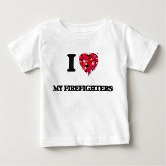 Amo a mis bomberos playeras