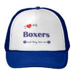 Amo a mis boxeadores (muchos perros) gorras