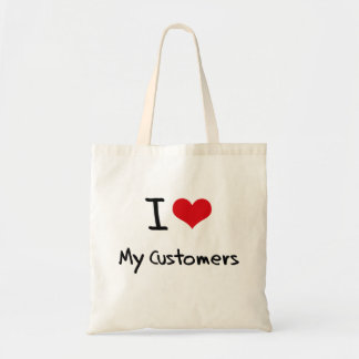 Amo a mis clientes bolsa de mano
