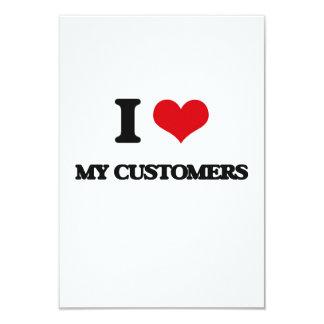 Amo a mis clientes invitación 8,9 x 12,7 cm