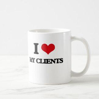 Amo a mis clientes taza clásica