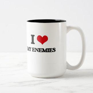 Amo a mis enemigos taza dos tonos