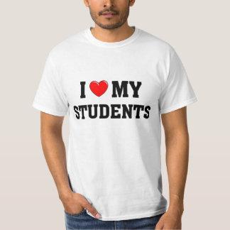 Amo a mis estudiantes camisas