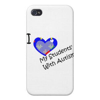 Amo a mis estudiantes con autismo iPhone 4/4S carcasas