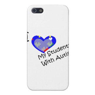 Amo a mis estudiantes con autismo iPhone 5 carcasa