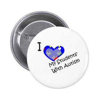 Amo a mis estudiantes con autismo pins