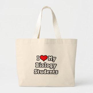 Amo a mis estudiantes de la biología bolsa tela grande