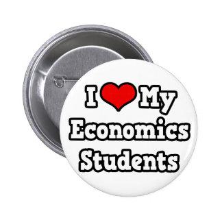Amo a mis estudiantes de la economía pin redondo de 2 pulgadas