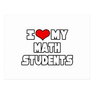 Amo a mis estudiantes de la matemáticas tarjetas postales