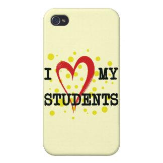 AMO A MIS ESTUDIANTES iPhone 4 FUNDAS