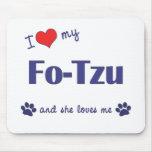 Amo a mis FO-Tzu (el perro femenino) Tapetes De Raton