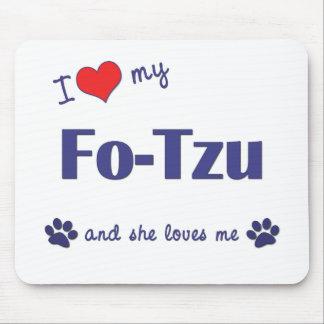 Amo a mis FO-Tzu (el perro femenino) Alfombrilla De Ratón