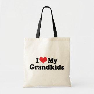 Amo a mis Grandkids Bolsa Tela Barata