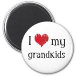 Amo a mis grandkids imanes para frigoríficos