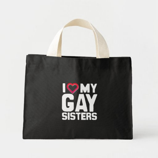 AMO A MIS HERMANAS GAY - - .PNG BOLSA TELA PEQUEÑA