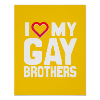 AMO A MIS HERMANOS GAY - - .PNG POSTER