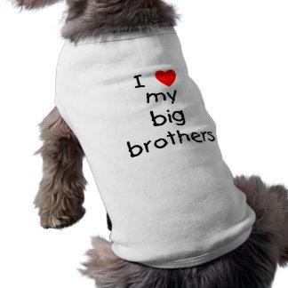 Amo a mis hermanos mayores camisas de perritos