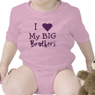 AMO a mis hermanos mayores T Trajes De Bebé