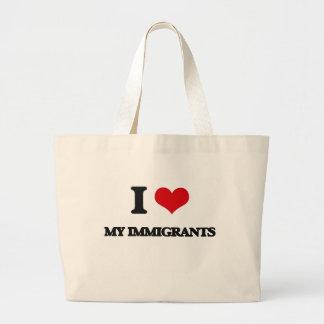 Amo a mis inmigrantes bolsa lienzo