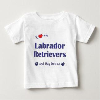 Amo a mis labradores retrieveres (los perros playera de bebé