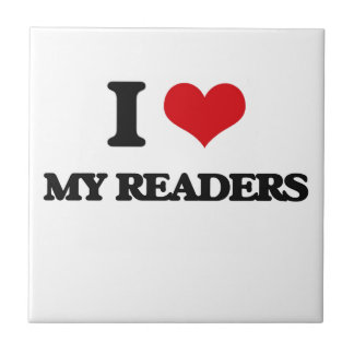 Amo a mis lectores azulejo ceramica