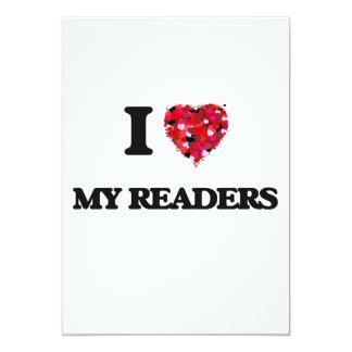 """Amo a mis lectores invitación 5"""" x 7"""""""