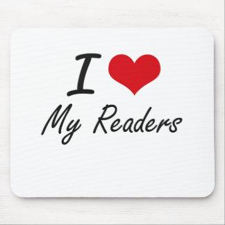 Amo a mis lectores mousepads