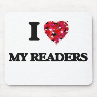 Amo a mis lectores tapete de ratones
