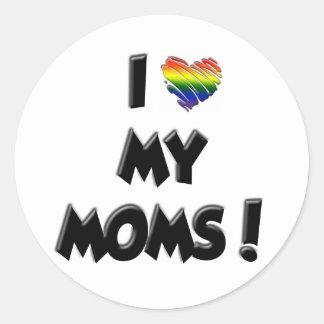 ¡Amo a mis mamáes! Etiqueta Redonda