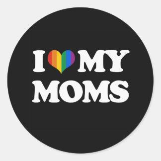 AMO A MIS MAMÁES - .PNG ETIQUETAS REDONDAS