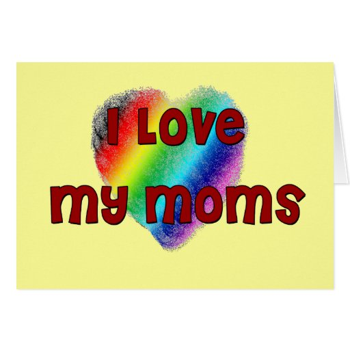 Amo a mis mamáes tarjeta