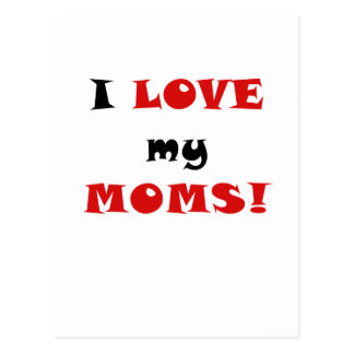 Amo a mis mamáes tarjetas postales