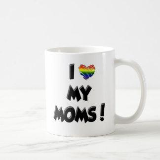 ¡Amo a mis mamáes! Taza Clásica