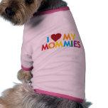 Amo a mis mamás camiseta de perrito