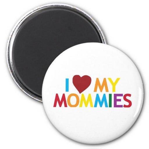 Amo a mis mamás imán redondo 5 cm