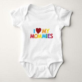 Amo a mis mamás mameluco de bebé