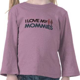 Amo a mis mamás camisetas