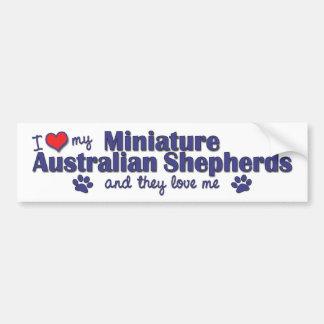 Amo a mis mini pastores australianos (los perros m pegatina para auto