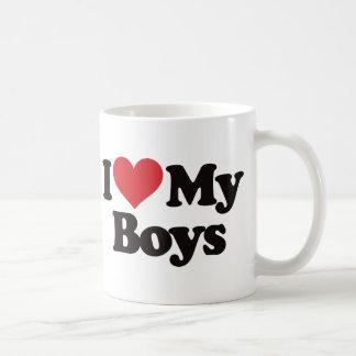 Amo a mis muchachos taza de café