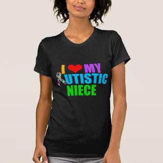 Amo a mis mujeres autísticas de la sobrina oscuras playera