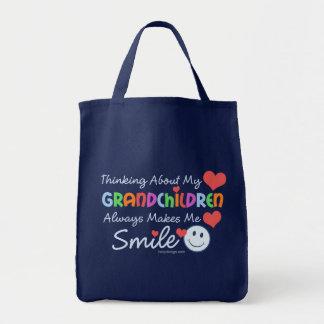 Amo a mis nietos bolsa tela para la compra