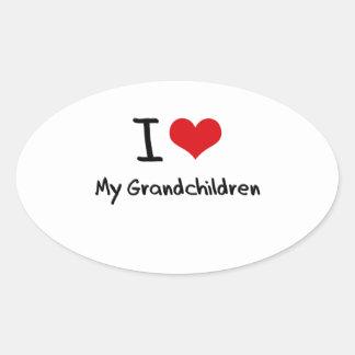 Amo a mis nietos colcomanias de ovaladas